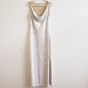 NWOT St. John Evening Off White Ivory Dress Gown
